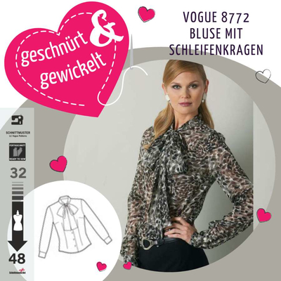 Sewing Pattern Vogue 8772 Blouse