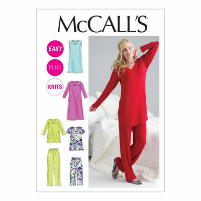 Sewing Pattern McCalls 6474 Sleepwear