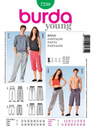 Sewing Pattern Burda 7230 Pants sizes Damen 32-46