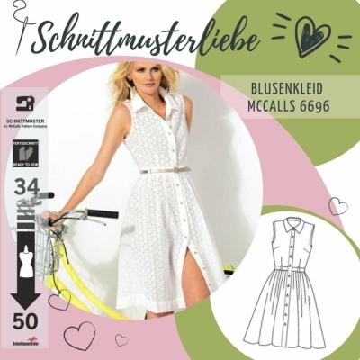 Schnittmuster McCalls 6696 Blusenkleider bei Schnittmuster.Net ...