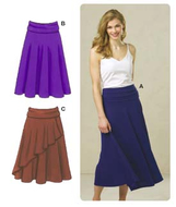 Sewing Pattern KwikSew 3513 Skirt XS-S-M-L-XL