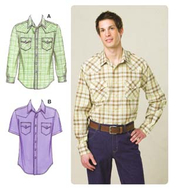 Sewing Pattern KwikSew 3506 Shirts S-M-L-XL-XXL