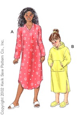 Sewing Pattern KwikSew 3102 SleepShirts 4-14 (104-156)