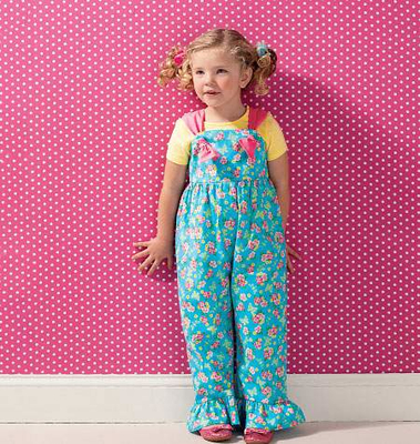 Schnittmuster KwikSew 0135 Overall Kinder Gr. 98-140