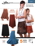 Sewing pattern Jalie 2681 Skirt