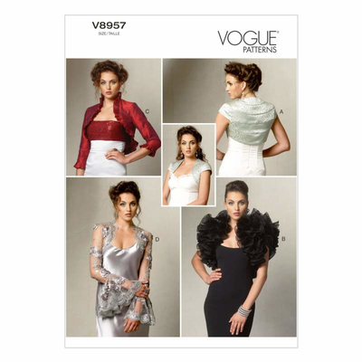 Schnittmuster Vogue 8957 Bolero bei Schnittmuster.Net ...