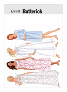sewing pattern Butterick 6838 anderwear